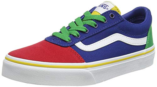 Vans Ward Canvas Sneaker, Unisex niños, Multicolor Bloque de Color Multi Wj0, 31 EU
