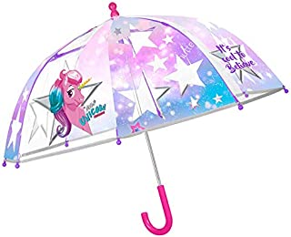 5814 ユニコーン Unicorn 子供用 傘 手動傘 手開き 透明 親骨サイズ44cm 直径66cm  [並行輸入品]