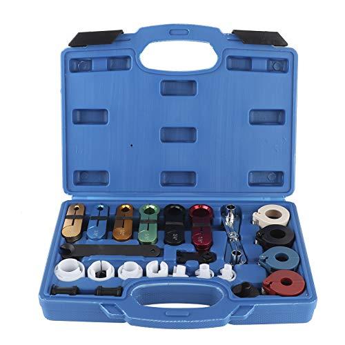 Herramienta de desconexión de línea de combustible, 22 unids/set, herramienta de desconexión maestra de línea de combustible de CA para coche, juego de removedor de enfriador de aceite de transmisión
