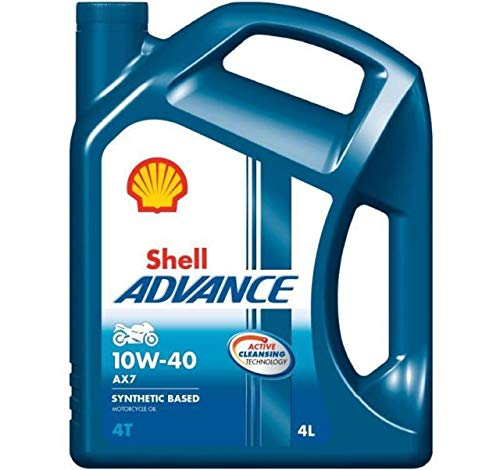 Shell 550027071 Advance 4T AX7 10W 40 Motorcycle Engine Oil