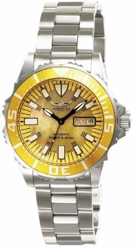 Invicta Reloj analógico para Mujer Pro Diver Abyss 2942 con Esfera Amarilla MOP y Bisel Amarillo