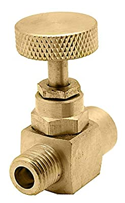 """1/4"""" Brass Needle Valve - Male to Female, 600 PSI WOG by DuraChoice"""