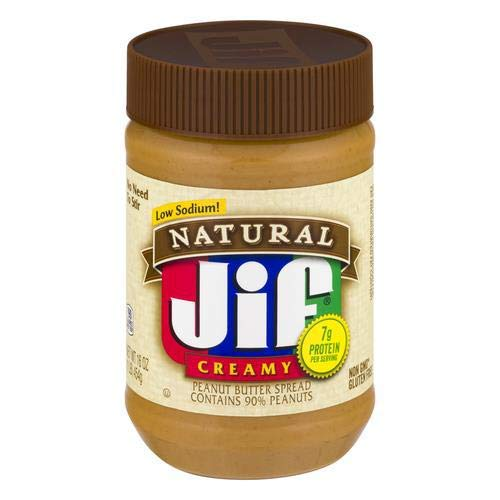 Jif Natural Creamy Peanut Butter  160 Oz Pack of 2