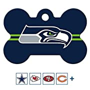 Officially licensed sports team fan gear for dogs! Your dog will look paw-some sporting their new NFL team dog tag. Made of solid brass, this tag is tough enough to stand up to all kinds of ruff-housing. To see all our pet ID products, click on our b...