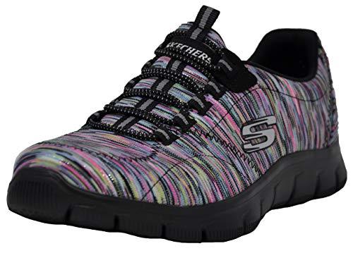 Skechers Women's Empire Fashion Sneaker, Multi/Black, 8 W US