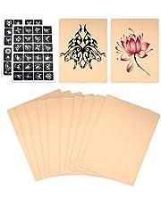 10 stuks blanco tattoo-praktijkhuid, dubbelzijdige huid voor beginners, met een tattoo-design sjabloon
