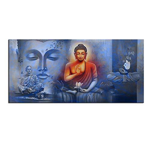 TeriliziGroßformat Druck Hd Gemälde Wandmalerei Buddha Poster Wandkunst Bild Für Wohnzimmer Malerei-50X100Cm Ungerahmt