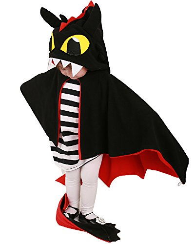 Coskidz Kids Red and Black Dragon Little Devil Halloween Cosplay Cloak (One Size)