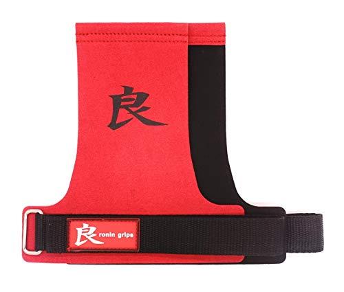 RoninGrips Red Dragon sin Agujeros - Calleras Crossfit, rápidas transiciones (M)