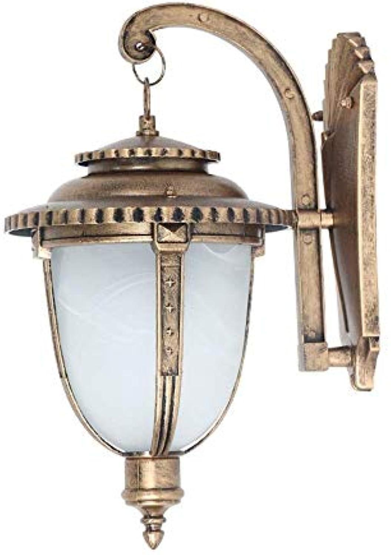 DLINMEI Rustikale Wandleuchte für den Auenbereich Bronze getzt Glas Wandleuchte für Auenhaus Deck Patio Porch Beleuchtung (gre   M)