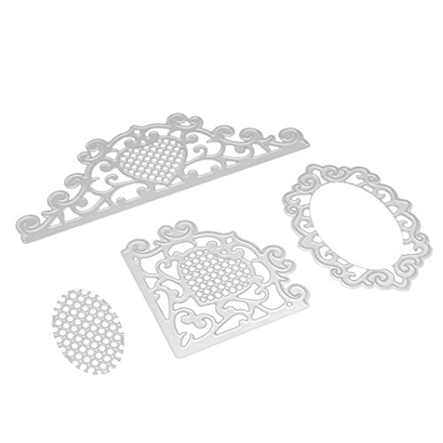 ❤️JiaMengTroqueles Scrapbooking Corazón de la Flor Plantillas de Troqueles de Corte de Metal DIY Scrapbooking Album Paper Card (C)