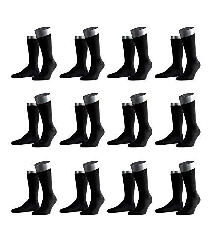 FALKE Herren Business-Socken Swing 14633 12 Paar, Farbe:Schwarz, Größe:39-42, Artikel:-3000 black