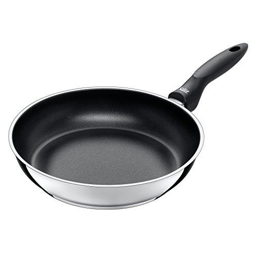 Silit Domus koekenpan, 28 cm hoog, gecoat roestvrij staal, geschikt voor inductie, PFOA-vrij, zwart