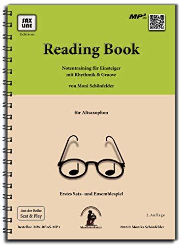 Reading Book - Erstes Notenlesen mit Rhythmiktraining - Saxophonbuch für Altsaxophon inkl. Playback - Spielstärke ★ ☆ ☆ ☆ ☆