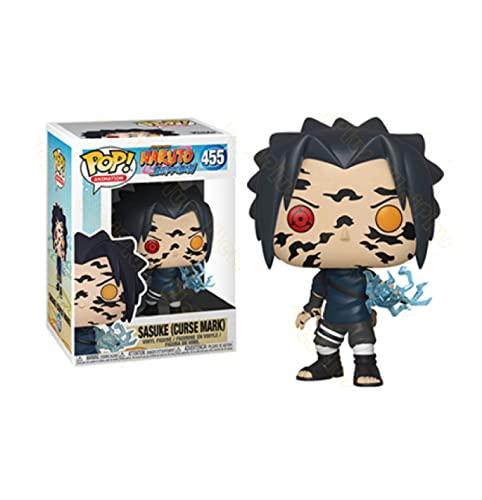 10 Cm Pop Figurines en Vinyle, Anime Naruto Sasuke #455 Figurine en Vinyle À Collectionner Modèle Jouets pour Enfants Cadeau De Noël