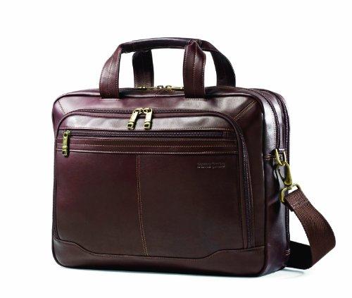 Samsonite Columbian Leather Briefcase, Brown, Top Loader