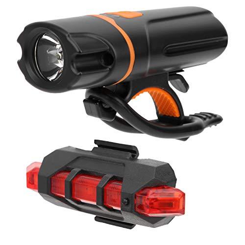 Aoutecen Luz Trasera integrada para Bicicleta, luz Trasera, Ciclismo y Senderismo para la mayoría de Las Bicicletas de montaña y Carretera