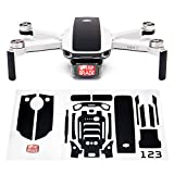 Wrapgrade Skin Sticker Set Compatible with DJI Mini 2 | Accent Color (Stealth Black)