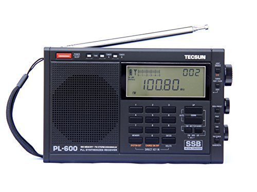 TECSUN PL-600 Digital Tuning Full-Band FM Radio Stereo MW/SW-SBB/PLL Synthesized Stereo Radio Receiver PL600 Radio ( black)