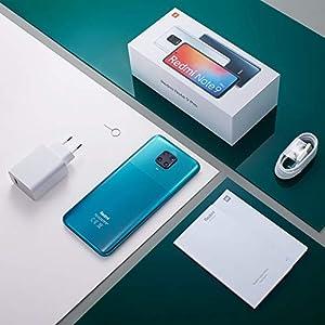 """Xiaomi Redmi Note 9 Pro - Smartphone con pantalla FHD+ 6.67"""" DotDisplay (6GB+128GB, cámara cuádruple 64 MP con IA, SnapdragonTM 720G, batería 5020 mAh) Blanco y Mi Speaker-Pack Lanzamiento, V Española"""