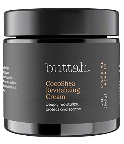 Buttah Skin CocoShea Revitalizing Cream 2oz - Natural & Organic African Shea & Cocoa Butter - Best Face Moisturizer for Dry Skin - Skin Protectant for Melanin Rich Skin - Black Owned Skincare