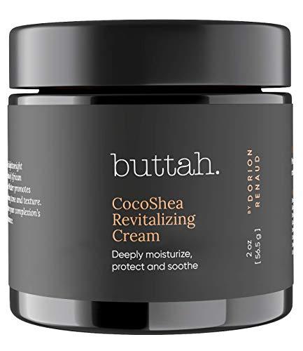 Buttah Skin CocoShea Revitalizing Cream 2oz - 100% All Natural & Organic African Shea & Cocoa Butter - Best Face Moisturizer for Dry Skin - Skin Protectant for Melanin Rich Skin - Black Owned Skincare