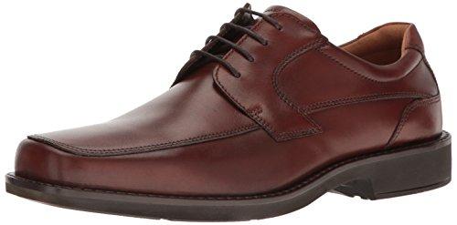 ECCO Men's Seattle Apron Toe Tie Oxford, Cognac/Brown, 46 EU/12-12.5 M US