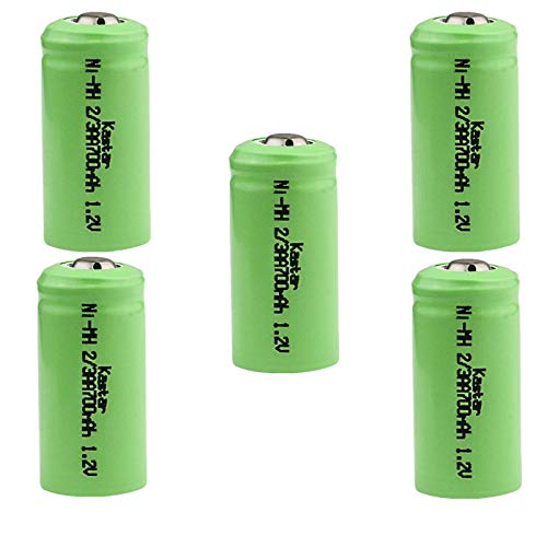 Kastar 5-Pack 2/3AA 1.2V 700mAh Ni-MH Button Top Rechargeable Batteries for High Power Static Applications (Telecoms, UPS and Smart Grid), Electric Mopeds, Meters, Radios, RC Devices, Electric Tools