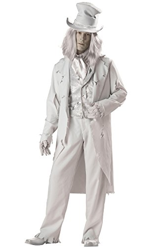En Costumes de caract-re fantomatique 140009 Gent Elite Collection Adult Costume - Gray - Grand