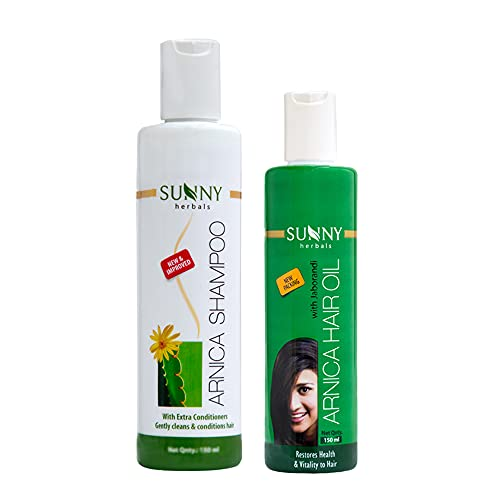Sunny Arnica Shampoo and Sunny Hair Oil Combo Pack (Arnica Shampoo (250 ML) + Hair Oil (150 ML))