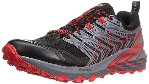 ASICS Gel-Trabuco Terra, Chaussures de Course Homme, Black Electric Red, 44 EU