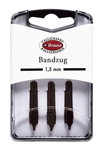 Brause 318015B Packung mit 3 Bandzugfeder, 1, 5mm, ideal für gotische Buchstaben, ideal für die Kalligraphie, 1 Pack