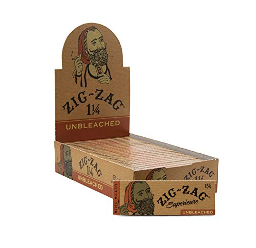 Zig-Zag Rolling Papers Unbleached 1 1/4 (24 Booklets Retailer Box) 78...