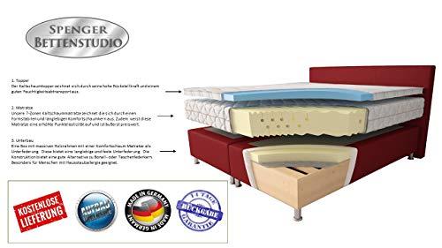 Microfaser Boxspringbett Montana Beige Bild 5*