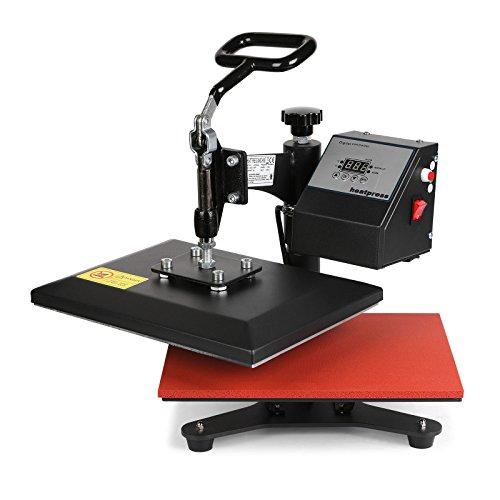 BuoQua 24X30CM Heißpresse Upgraded Multifunktions Hitzepresse mit Elektronische Zeitregelung und Temperaturüberwachung Automatisch Textilpresse Transferpresse Textilpresse