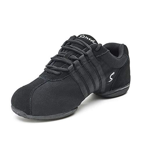 Sansha Dyna-Site Dance Sneaker,Black,8 Sansha (7 M US Women's)