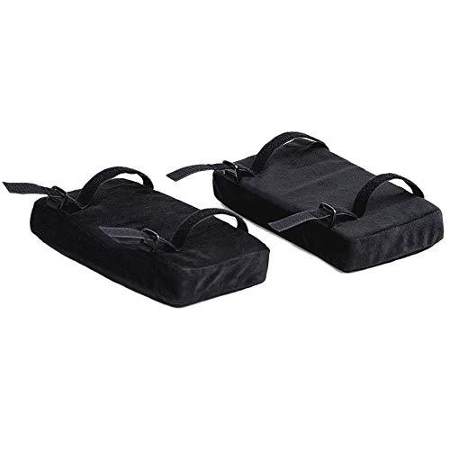 Haude - Set di 2 cuscini per sedia con cuscino curvo in schiuma per alleviare la pressione dell'avambraccio, per sedia da ufficio, sedia da gioco