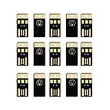 Loriver 15pcs USB LED Portable Night Light Bright Mini Keychain Camping Car Module de lampe