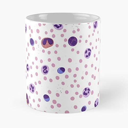 Hematology Med Lab Hospital Blood Cells Laboratory Tech - Best 11 Ounce Ceramic Mug - Classic Mug for Coffee, Tea, Chocolate or Latte