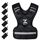 ZELUS Weighted Vest for Men and Women | 4-10lb/11-20lb/20-32lb Vest with 6 Ironsand Weights for Home Workouts | Adjustable Body Weight Vest Exercise Set for Cardio and Strength Training (20-32lb)