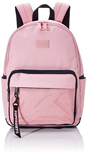 Superdry Damen Mesh Pocket Backpack Rucksack, Pink (Pink Nectar), 31x44x13 cm