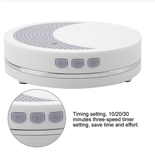 Máquina de sonido de ruido blanco portátil máquina de sonido de terapia de sueño de luz de bebé con 2 monitores de sueño de bebé de sonido relajante