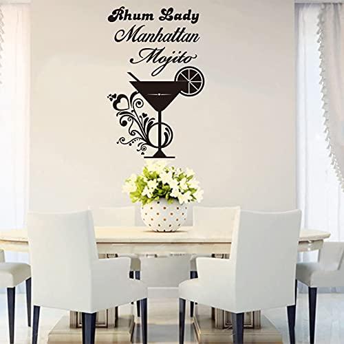 Usmnxo Cocinar Cóctel Vinilo Etiqueta de la Pared Calcomanía Mural Arte de la Pared Cocina Bar Mostrador Azulejo Decoración para el hogar 55x85cm