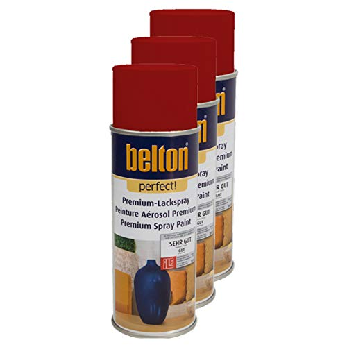Kwasny 3X Belton Perfect Lackspray Lack Spray Spraylack Premiumlack Premiumlackspray Premium Perfect Rot 400 Ml