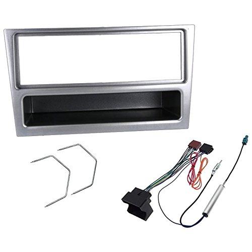 Sound-way Kit Montaggio Autoradio, Mascherina 1 DIN, Cavo Adattatore Connettore ISO, Adattatore Antenna, Chiavi di Smontaggio compatibile con Opel