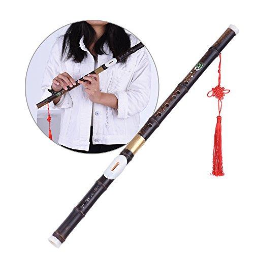 Ammoon G clave Bawu Flauta de bambú Natural negro Ba Wu transversal tubo Detchable para principiantes amantes de la música como regalo