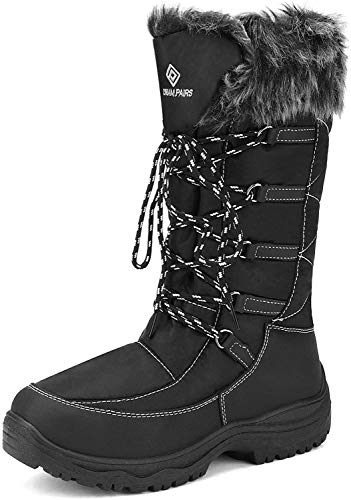 DREAM PAIRS Women's Maine Black Knee High Winter Snow Boots Size 8 M US