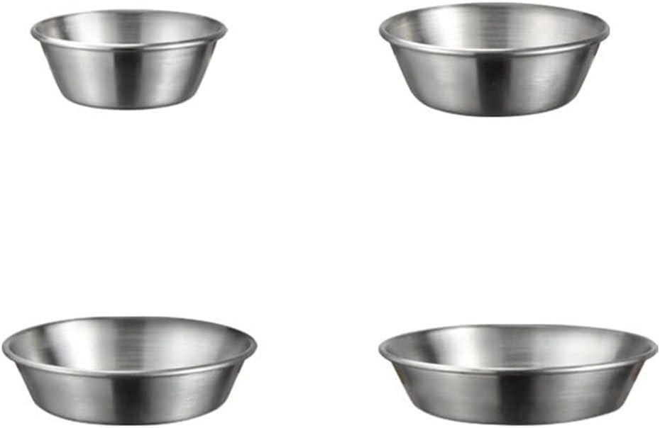 Cabilock 4pcs Stainless Ranking TOP17 Steel Sauce gift Seasoning Di Dishes Mini Soy