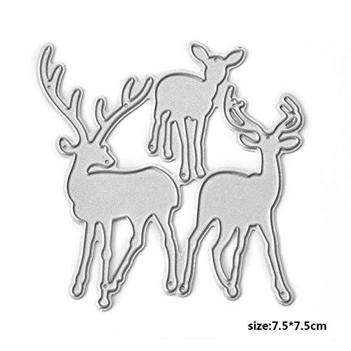 Kerstman Sterft Sneeuwvlok Boom Snijden Dies Die Herten slee Metaal Snijden Dies Craft Papier Kaart maken Scrapbooking, Herten Sterft