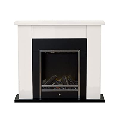 Adam Stratton Electric Fireplace Suite, Cream